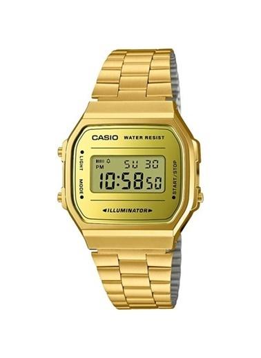 Casio Casio A168Wegm-9Df Altın Çelik Kayış Altın Kadran Su Geçirmez Dijital Kadın Kol Saati Renkli